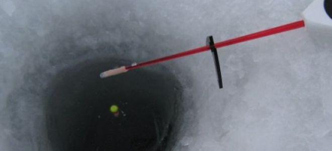 Оснастка зимней поплавочной удочки на плотву
