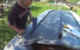 Как ремонтировать лодки ПВХ своими руками?