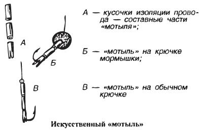 Как насадить мотыль на крючок