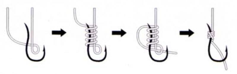 Как правильно завязать крючок на леску