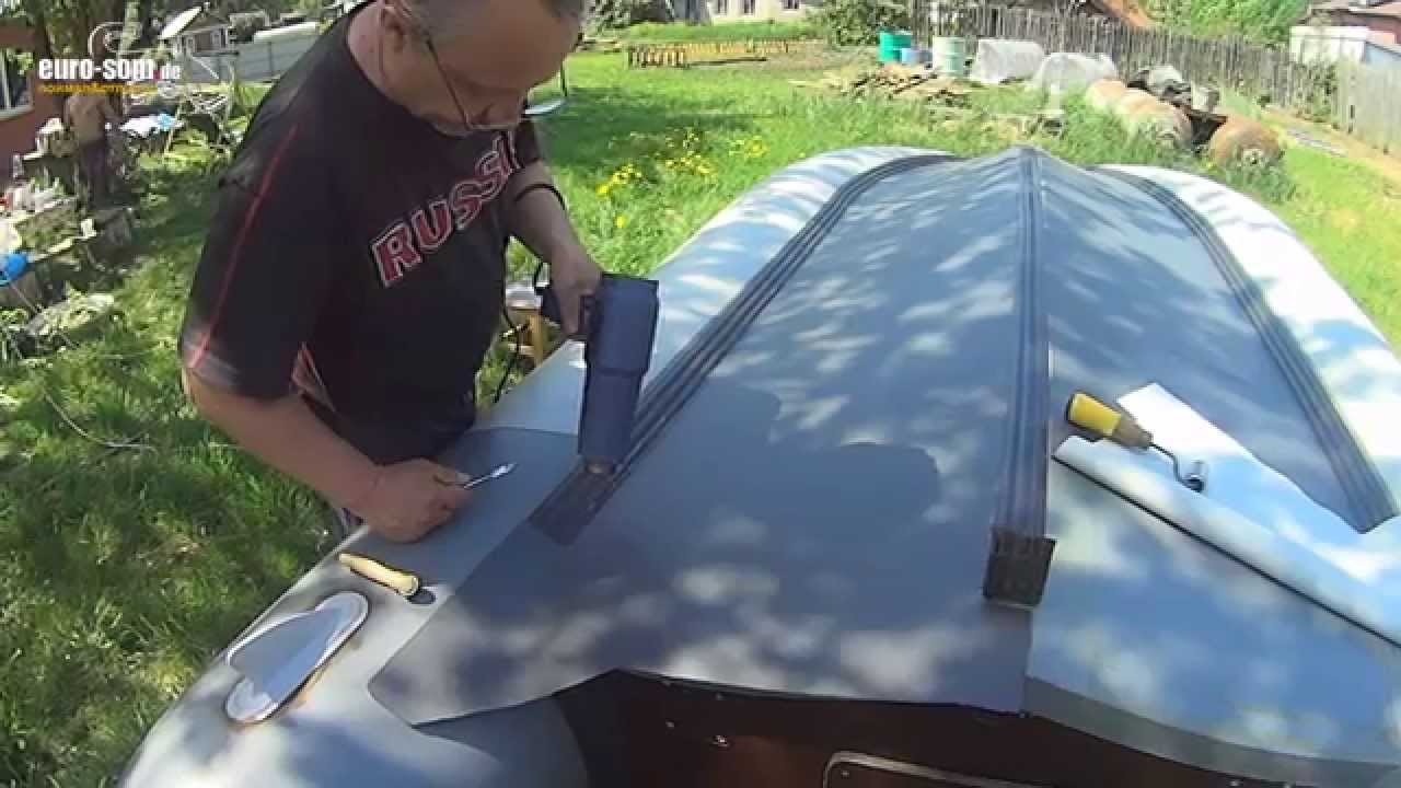 Ремонт лодки ПВХ своими руками