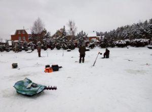 Рыболовная база У Иваныча зимой